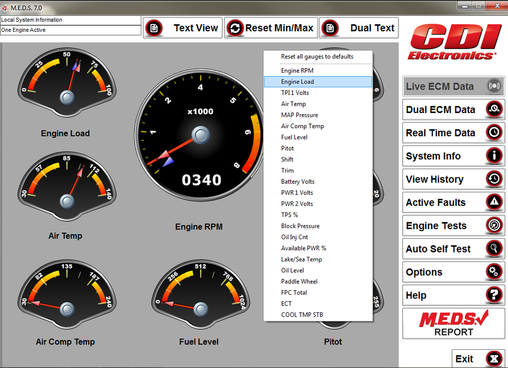 M E D S  Marine Engine Diagnostic Software | CDI Electronics