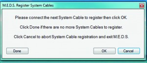 MEDS Register System Cables